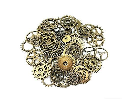 100 g, sortiert Retro Stil Antik Steampunk Gears Charms Anhänger Uhr Armbanduhr Rad Gear für, selbstgemachten Schmuck Zubehör