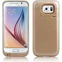 ZOGIN para Samsung Galaxy S6 Edge G9250 4500mAh Funda de Batería Externa / Funda Protectora Cargador / Funda de Batería Integrada Recargable de Alta Capacidad, Color Oro