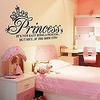 ryask (TM) Princess Crown Lettera rimovibile Wall Stickers Art decalcomanie