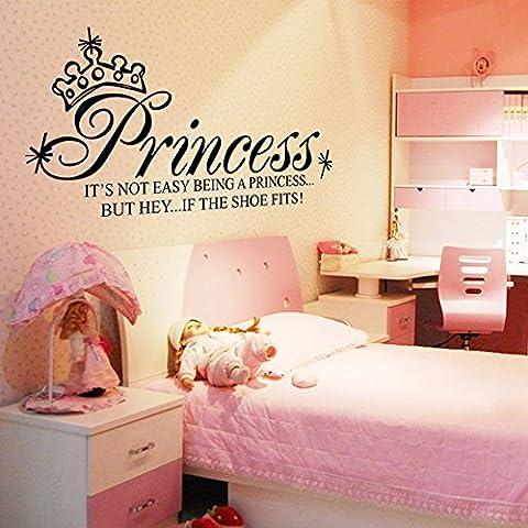 Anself Princesa de la Corona extraíble impermeable Arte PVC habitación Deco| wall stickers | pegatinas de pared | pared del tatuaje | etiqueta de la pared |