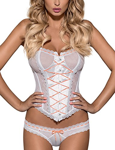 Obsessive-Melidia-Corset-And-Thong-Set-Sexy-Non-Padded-With-Lace-Removable-Adjustable-Straps