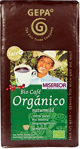 GEPA Bio Fair Cafe Organico naturmild gemahlen 6x500g
