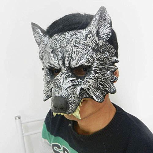 YaPin Erwachsenen Wolf Kopf Maske Wolf Handschuhe Halloween Kinder Maskerade Requisiten Horror Tier Set lustige Kopfbedeckung (Size : Mask)