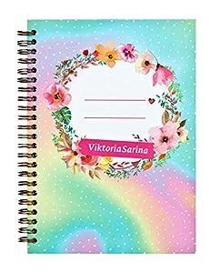 Undercover GmbH VSIN0594.Z Viktoria Sarina - Cuaderno de Notas (DIN A5, con Espiral, a Rayas), Multicolor