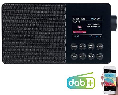 VR-Radio DAB Radio Bluetooth: Mobiles Akku-Digitalradio mit DAB+, FM, Bluetooth & Farbdisplay, 10 W (DAB Radio Akku) -