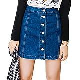 Elegant Rock für Damen Abnehmen Bleistiftröcke Einfarbig Casual A-linie Kurz Skirt Minirock Jeansrock für Frühling Sommer