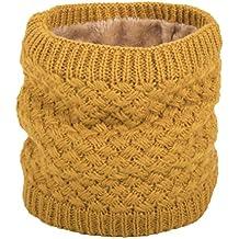 Yuson Girl Femmes Chaud laine tricot col cercle laine Blend Cowl Snood  multi-purpose écharpe 66c5a12970c