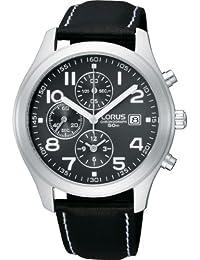 Lorus de Seiko Sport Chronograph noire Bracelet en cuir RF845CX8