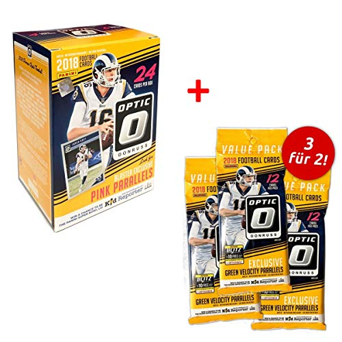 Panini Donruss Optic 2018-2018 NFL Trading Cards - Blaster Box & 3 Value Packs zum Preis von 2