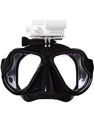 lyhoon Masque de plongée pour plongée et plongée en verre trempé Compatible avec xiaoyi GoPro Hero 1, 2, 3, 3 + et 4 noir Noir Adult Mask