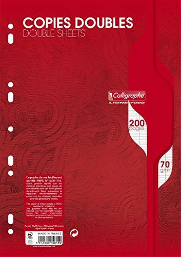 Caligraphe Copies Doubles Perforées 200 Pages