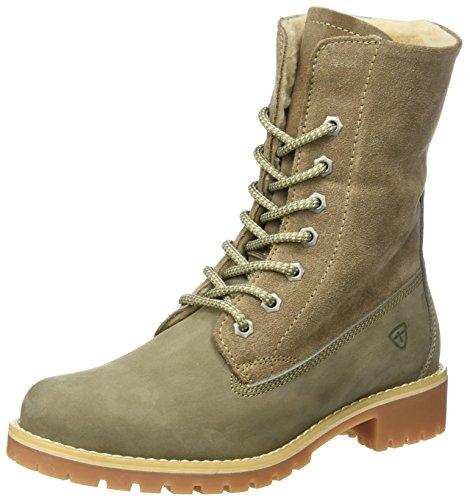 Tamaris Damen 26443 Combat Boots, Braun (Taupe), 36 EU