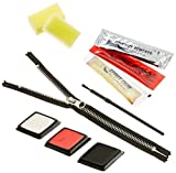 Heitmann DECO Halloween gruseliges Schmink-Set Zipper - Make-Up Set mit klebendem Reißverschluss und Kunstblut