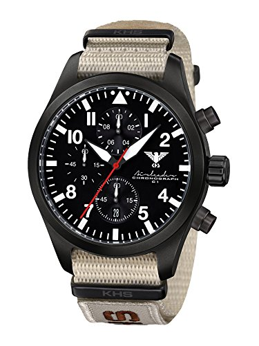 KHS Mens Watch Analogue Quartz with Nylon Wrist Band KHS.AIRBSC.NXTLT5