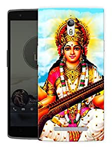 "Humor Gang Saraswati Maa - - Indian Hindu God Printed Designer Mobile Back Cover For ""Oppo R7"" (3D, Matte Finish, Premium Quality, Protective Snap On Slim Hard Phone Case, Multi Color)"
