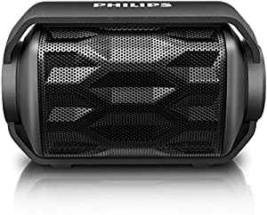 Philips BT2200B/27 Shoqbox Mini Wireless Water Resistant Outdoor Portable Bluetooth Speaker (Black)