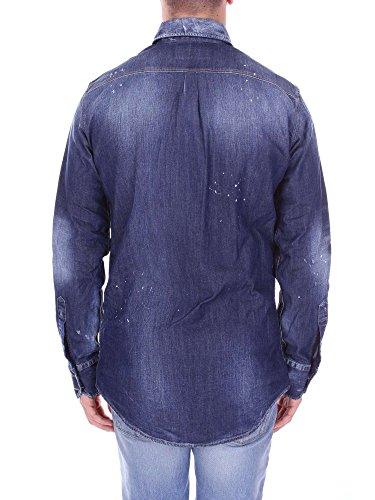 DSQUARED2 S74DM0076 Camicia Uomo Jeans scuro