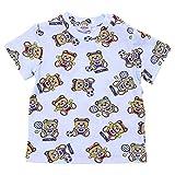 Moschino Baby Boy T-Shirt Celeste in Jersey di Cotone Mod. MMM01HLAB0583207 3/6M