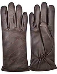 Women's Chauffeur Driving Winter Slim Fit Gloves Vintage Classic Real Leather