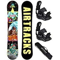 AIRTRACKS SNOWBOARD SET - TABLA SPACEMAN 157 - FIJACIONES STAR L - BAG