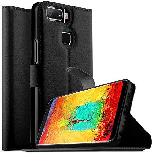 KuGi Leagoo S8 Pro Hülle, Leagoo S8 Pro Wallet Case, Brieftasche Case Hülle PU Kunstleder Flip Case mit Standfunktion Kartenfächer & Bargeld für Leagoo S8 Pro Smartphone.Schwarz