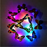 TRENDINAO TRENDINAO 1PC Butterfly LED Night Light 7 Colors Changing Lamp Decorate Room Party Wedding