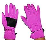Unbekannt Fingerhandschuhe Softshell - rosa pink - Thermo gefüttert mit Fleece - dünner Thermohandschuh - Größe: 6 bis 8 Jahre - wasserdicht + atmungsaktiv Soft Shell -..