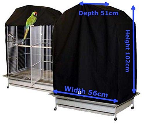 Vogelkäfig, Tiefe 51cm Höhe 102cm Breite 56cm schwarz 100% Baumwolle