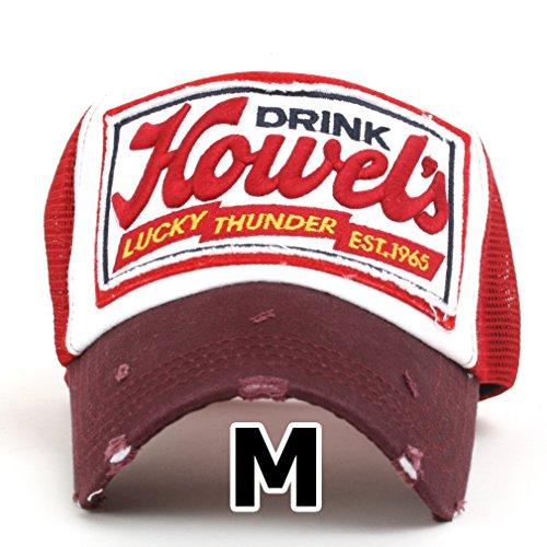 ililily Howel's Distressed Vintage Baseball Mesh Cap Trucker Hat -