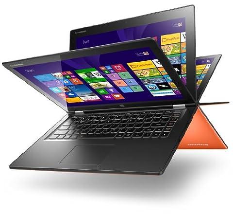 Lenovo Yoga 2 13 33,8 cm (13,3 Zoll) Convertible Ultrabook (Intel Core i5 4200U, 2,6GHz, 8GB RAM, HDD 500GB, Intel HD Graphics 4400, Touch, Win 8) clementine