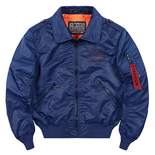 Zolimx Herren Übergangsjacke Herrenjacke Jacke gefüttert mit Stehkragen Sportjacke Outdoor, Männers Lässige Mode Reine Farbe Plus Size Zipper Outdoor Sport Jacke