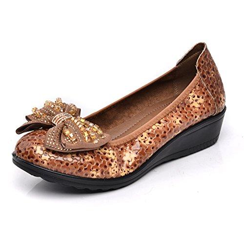 automne lumière ronde toe/Comfort avec chaussures de fond mou/Mesdames les souliers de travail C