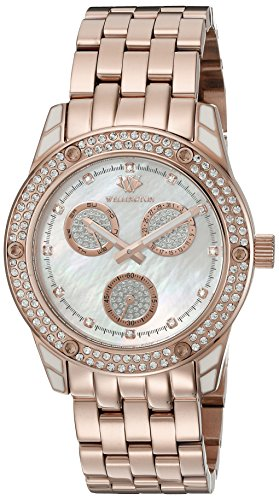 Wellington Mataura Women's Quartz Watch with Mother of Pearl Dial Analogue Display and Rose Gold Stainless Steel Plated Bracelet WN507-388