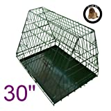Ellie-Bo Folding Dog Crate with Non-Chew Metal Tray