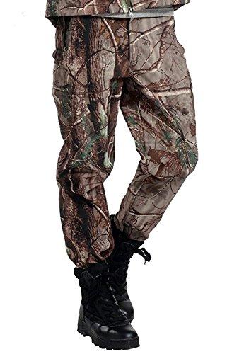 Tongcart pantaloni tattici impermeabili morbidi pantaloni invernali da uomo antivento caldo camouflage in pile pantaloni militari dell'esercito caccia pantaloni mimetici