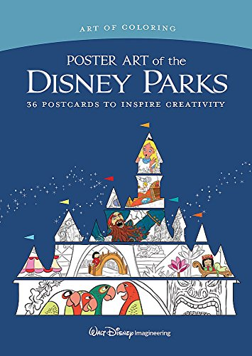 Art of Coloring: Poster Art of the Disney Parks: 36 Postcards to Inspire Creativity (Disney Poster Art)