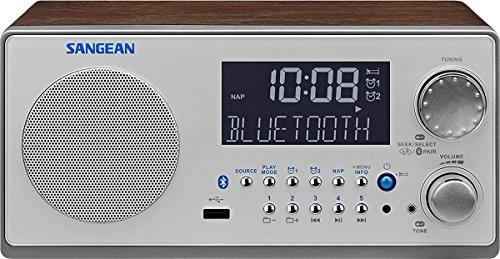 Sangean WR22 WR-22 Bluetooth Digital Radio (FM-RDS (RBDS)/AM, USB, 3 Zoll full range speaker, Built-in Bluetooth) Full Range Usb