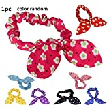 Leoy88 1 PC Baby Hair Rope Ears Headband Rubber Bands Small Size(Color Random)