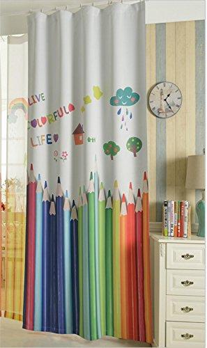 Gymnljy tende misto cotone bambini camera blackout caldo protezione tessuto pannello di cortina di stampa digitale finestra tende 1,4 * 2,7 m (1 pannelli) , 2