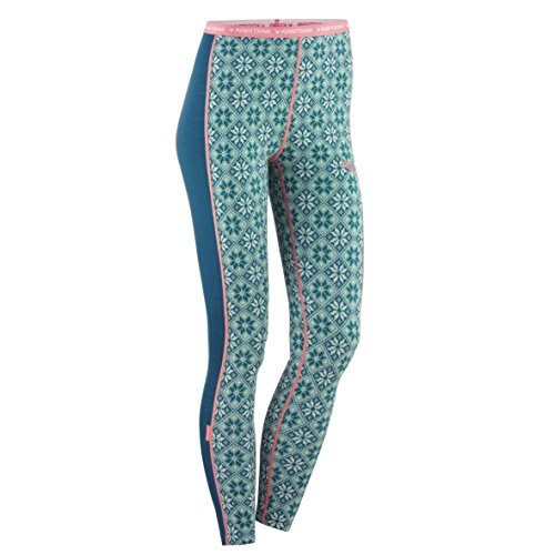 Kari Traa 621780_Rose Pant Frauen Damen_Sportunterhose,Funktionsunterhose, figurnaher Schnitt, Merino-Wolle, stylisher All Over Print,640 Lake, M