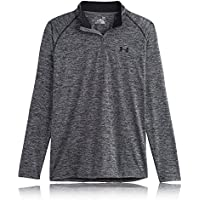 Under Armour UA Tech 1/4 Zip, Sudadera para Hombre, Gris (Grey/Black), L