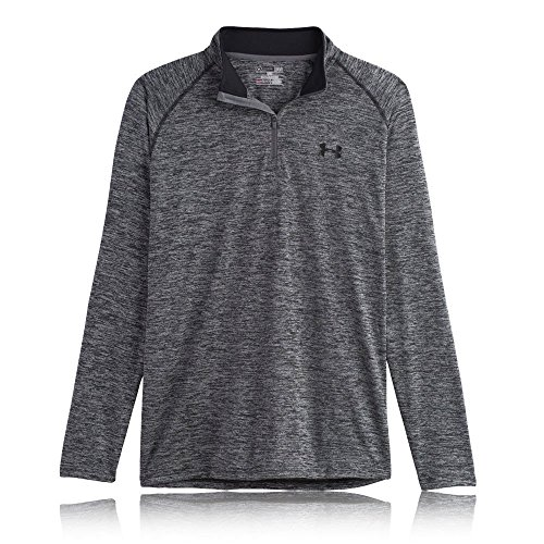 1/4 Carbon (Under Armour Herren Fitness Sweatshirt UA Tech 1/4 Zip, Grau Carbon Heather, S, 1242220-090)