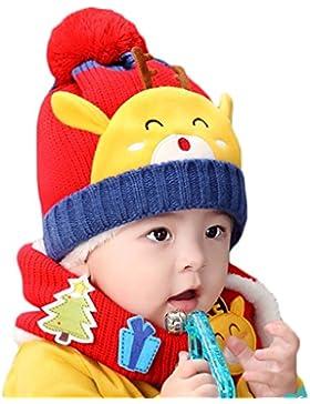 Hikfly Seta sciarpa del cappello a maglia di inverno per i bambini piccoli dei neonati cappello termico del cappello...