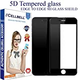 #8: CELLBELL® Apple iPhone 7 (5D)(BLACK) Full Body Premium Quality Tempered Glass Screen Protector Guard