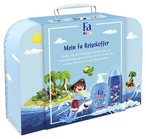 Fa Geschenkset Kids Jungs 250ml Duschgel & Shampoo, 250ml Kinderseife mit persönlichem Reisekoffer, 500 ml