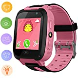 Kids Smart Watch for Children - Orologio digitale da bambina con orologio anti-perso SOS Button Tracker GPS Smartwatch Orologio da polso intelligente per iPhone Orologio da polso intelligente per iOS