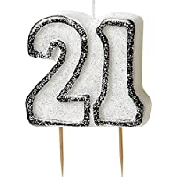Unique BLING Party Decorations and Tableware for 21st Birthday in BLACK & SILVER Glitz