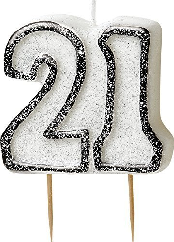 bling-party-decorations-and-tableware-for-21st-birthday-in-black-silver-glitz-21-candle