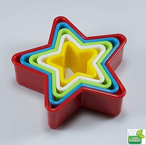 5 emporte pièces étoile [SANS Bisphénol A] (BPA) - Résistante haute température - Qualité supérieure - France Design O