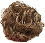 PRETTYSHOP Scrunchy Scrunchie Bun Updo Hairpiece Hair Ribbon Ponytail Extensions Curly Diverse Colors (light brown 16)